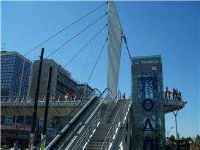 Piraeus port pedestrian bridge.jpg