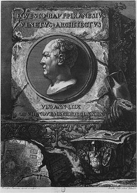 Self-portrait of Piranesi.
