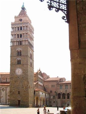 The Bell Tower of the Cathedral in Piazza Duomo.
