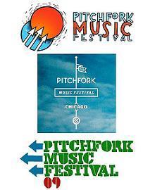Pitchfork Music Festival logos.