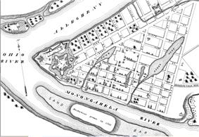 English: A street map of Pittsburgh, Pennsylvania, in 1795, which includes Fort Pitt.Wikipeder.