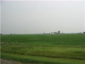 Broad fields typical of Clay Township