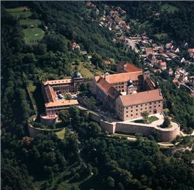 Aerial view of Plassenburg fortress