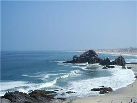 La Bikini beach, view from El Chanque.