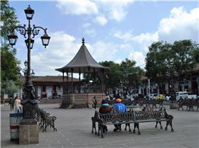 Plaza of Santa Clara del Cobre