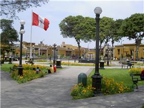 Main Square in Pueblo Libre.