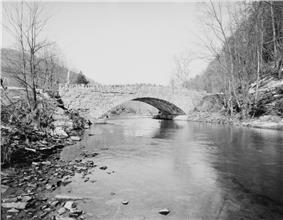 Bridge in Plunketts Creek Township