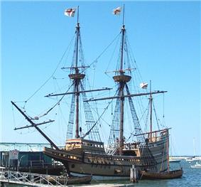 Mayflower II at State Pier in Plymouth, Massachusetts, 2006