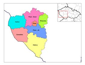 Districts of Plzeň Region