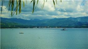Sogod Poblacion as seen from Sogod Bay