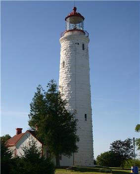 Exterior view of Point Clark Lighthouse