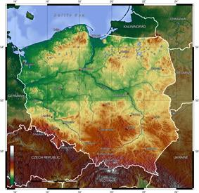 Topography of Poland.