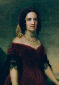 Portrait painting of Sarah Polk