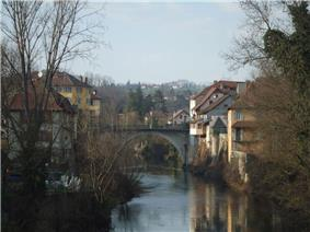 The bridge in Le Pont-de-Beauvoisin