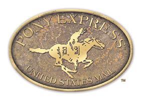U.S. Postal Service trademarked Pony Express logo