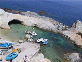 View of Cala Fonte harbour in Le Forna area