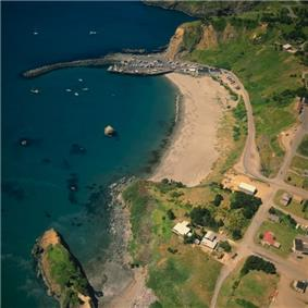 1990 Aerial view of Port Orford