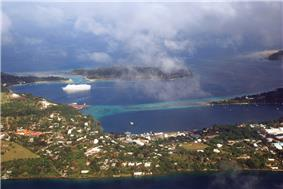 Aerial view of central Port Vila