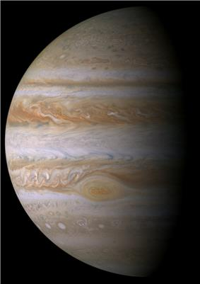 Planet Jupiter, a gas giant