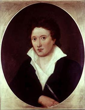 Half-length oval portrait of a man wearing a black jacket and a white shirt, which is askew and open to his chest.