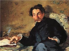 Portrait of Stéphane Mallarmé.
