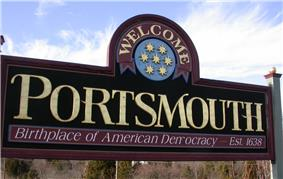 Portsmouth welcome sign