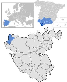 Location of Sanlúcar de Barrameda