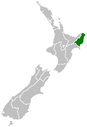 Location of Gisborne District