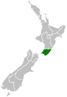 Location of Wellington Region (Greater Wellington)