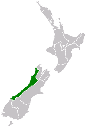 Map showing location within New Zealand