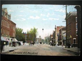 Downtown Cortland in 1906