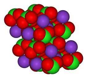 The crystal structure of potassium chlorate
