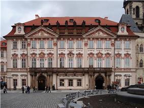 An ornate four-storey palatial building