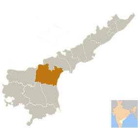 Location of Prakasam district in Andhra Pradesh