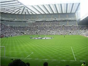 Inside Newcastle United's stadium, St James' Park