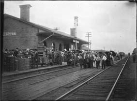 The railway station in 1905