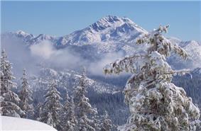Preston Peak in winter.