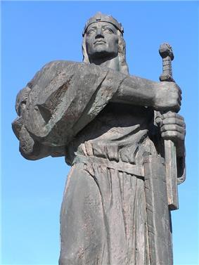 Pribina's mondern sculpture