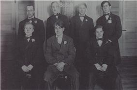 Six of the theatre's original ushers, circa 1915