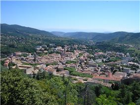 A view of Privas from Le Montoulon