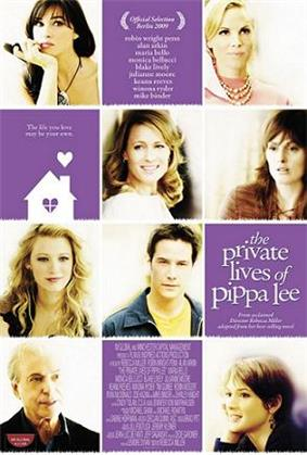 A grid, 3 wide and 4 high showing portraits of the cast members and descriptive copy in purple boxes with white writing