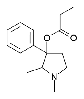 Chemical structure of Prodilidine.