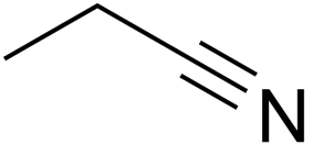 Skeletal formula of propanenitrile