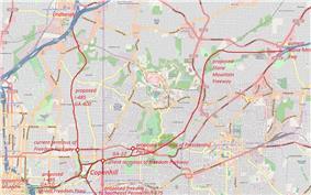 Proposed freeways in Intown Atlanta, 1960s–1970s