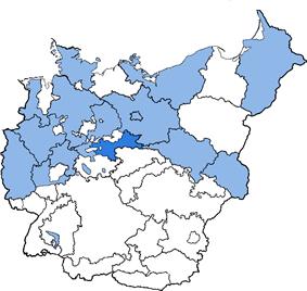 Location of Halle-Merseburg