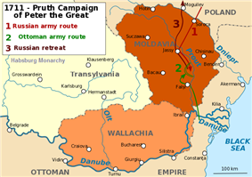 Map of the Prut campaign