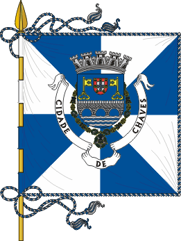 Flag of Chaves, Portugal