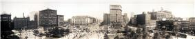 Panorama of Public Square in 1912