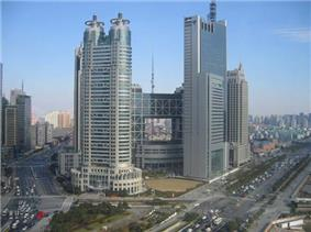 Pudong district roads traffic skyscrapers, Shanghai.JPG