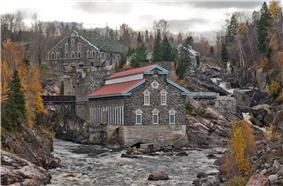 Old Chicoutimi Pulp Mill and river